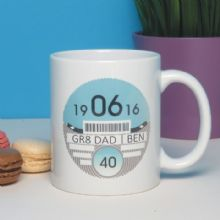Personalised Car Tax Disc Mug - Father's Day, Dad's, Grandads Birthday, Special Age Milestone Keepsake, 18th, 21st, 30th, 40th, 50th, 60th